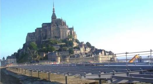 """<""""Mont Saint Michel structure du pont passerelle"""">"""