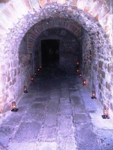 Eclairage le soir abbaye du Mont-saint-Michel