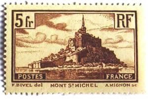 Timbre du Mont-Saint-Michel en 1930
