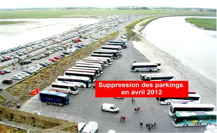 Parking sur les grèves, des cars
