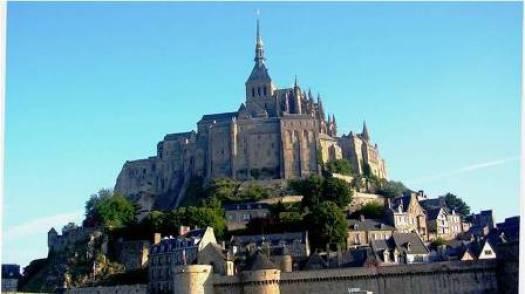 Clocher et flèche du Mont-Saint-Michel