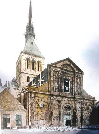 La façade Ouest de l'église abbatiale