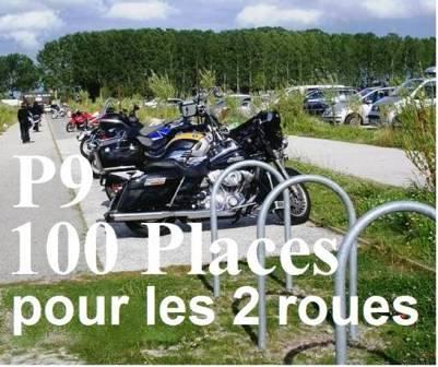 Le parking motos