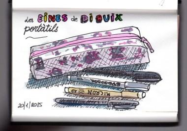 Eines de dibuix portàtils (aquarel·la i tinta) | Herramientas de dibujo portátiles (acuarela i tinta) | Portable drawing tools (watercolor and ink).