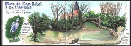 Parc de Can Solei i Ca l'Arnús, 1r Sketchcrawl Dibuixem Badalona