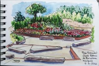 Plaça Polivalent. Jardí Botànic de la ciutat a Montjuïc. | Plaza Polivalente. Jardín Botánico de la ciudad en Montjuïc. | Polivalent Square. Botanic Garden in Montjuïc.
