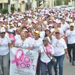 Santiago: Realizan caminata contra el cáncer