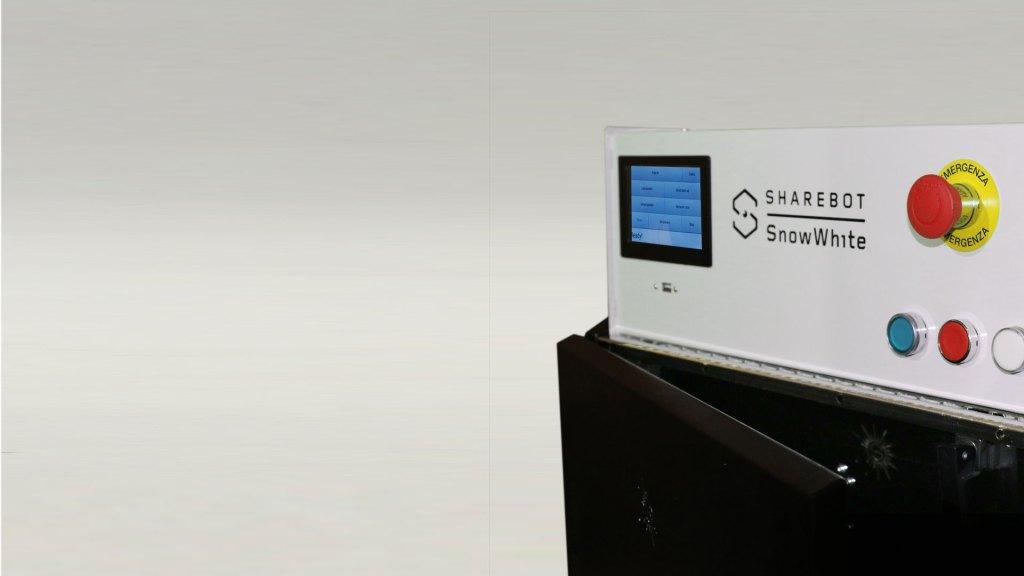 Stampante 3d professionale sharebot snowwhite filamento sharebot monza 3d store shop
