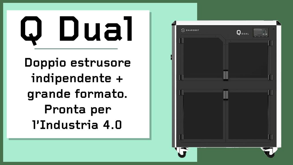 Prodotti Sharebot Monza stampante 3d Sharebot q dual