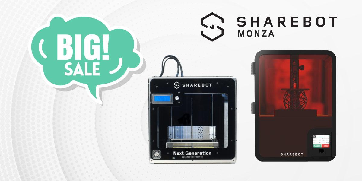 stampanti 3d in offerta sharebot monza