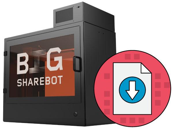 scheda tecnica sharebot big stampante 3d store monza