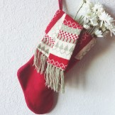 a christmas stocking bouquet