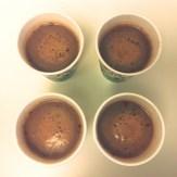 hot cocoa feels good inside a paper cup