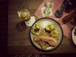 My Pork Belly with sauerkraut and boiled potatoes