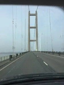Humber Bridge on route to Hull