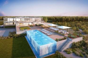 luxo piscina casa mansion pool glass backyard imagens transparente massive bridgehampton hamptons modern swimming designs kikoski andre mar estate interiores