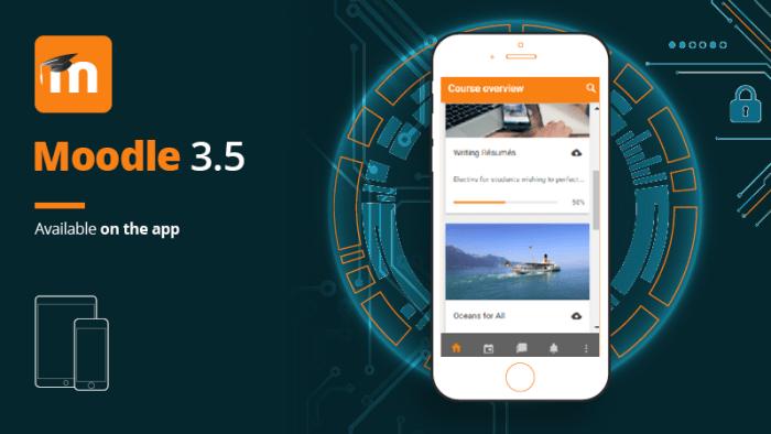 Moodle 3.5 app
