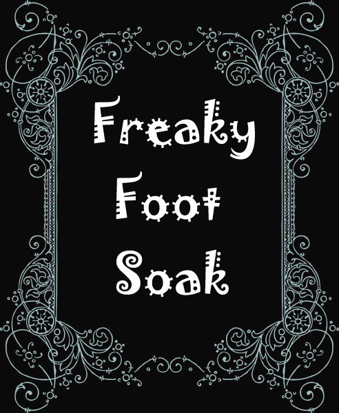freaky foot soak label