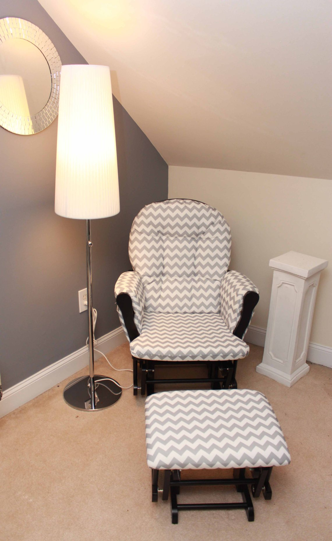 nursery breastfeeding nook