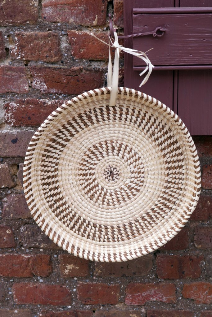 Geechee handwoven sweetgrass basket.