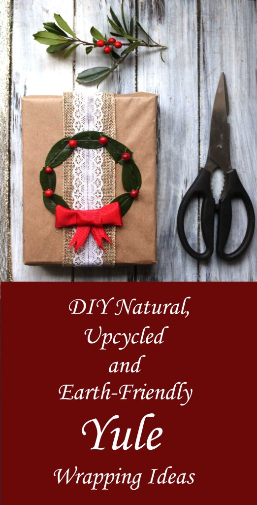 DIY natural and upccycled Yule wrapping ideas.