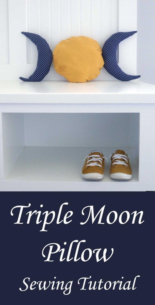 DIY triple moon sewing tutorial. A witchy craft project for a rainy afternoon!