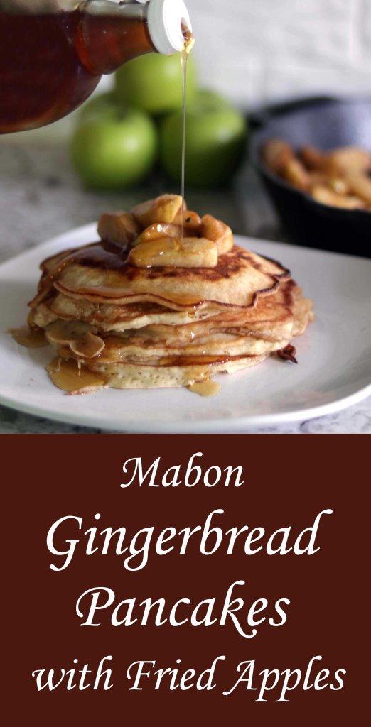 Mabon gingerbread fried apple pancakes.