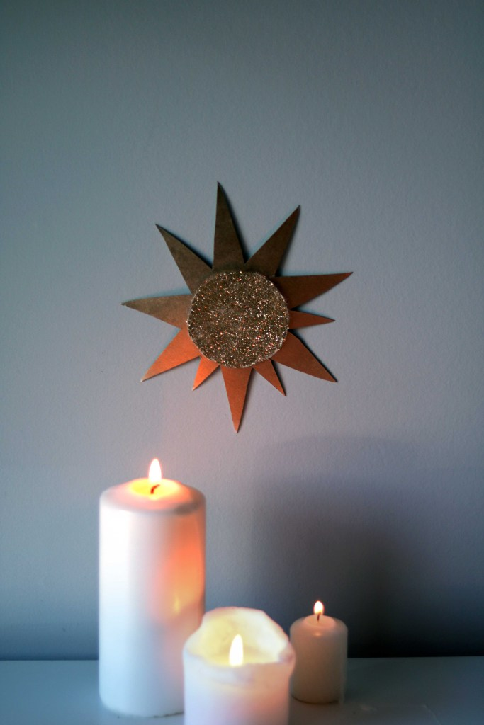 Sun symbols celebrate the return of the light during the Gaelic holiday of Imbolg.