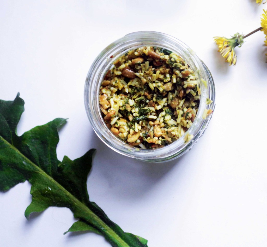 Currently on my spring bucket list: Make some of this amazing dandelion pesto. OMG YUM.