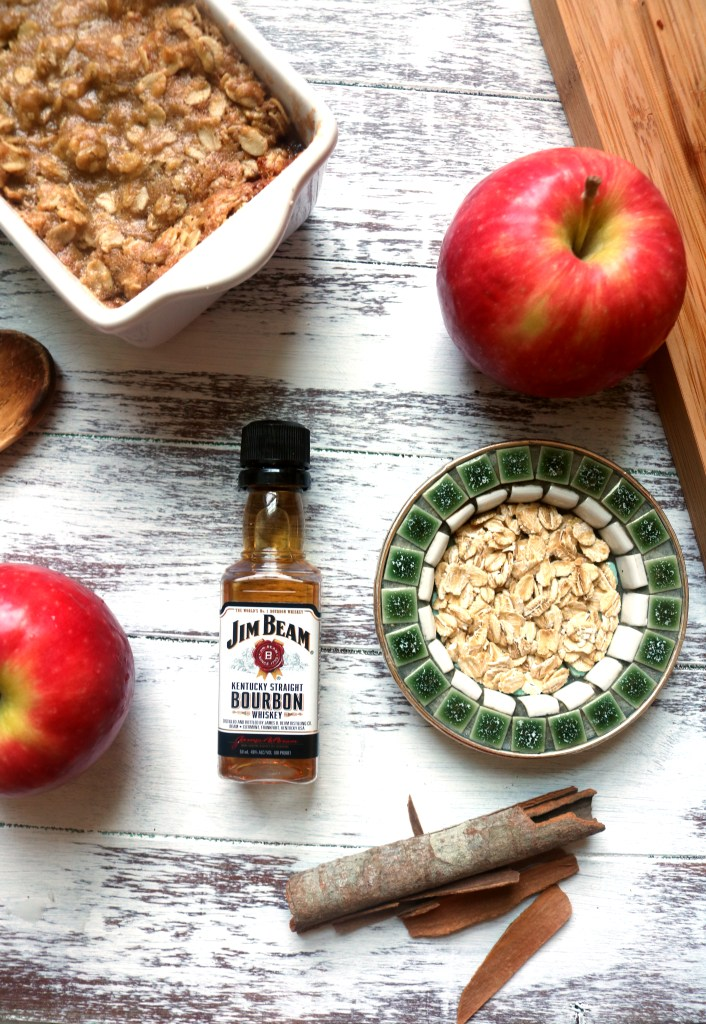 Add a splash of bourbon to your apple crisp for a warm, hearty fall flavor.