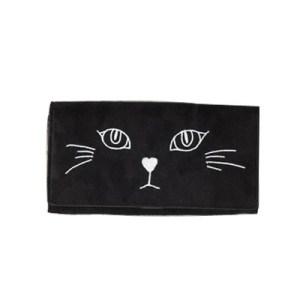 ジュエティの黒猫長財布