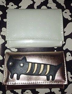 ツモリチサトの猫の三つ折り財布とクレイサス三つ折り財布