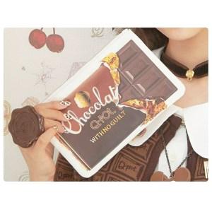 Miel付録のQ-pot.チョコレート柄のポーチ