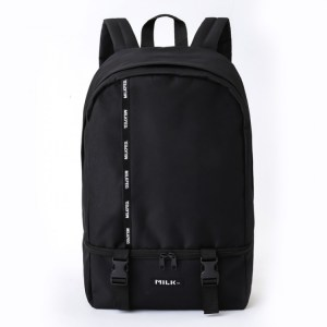 2019年6月発売セブン限定MILKFED. LOGO TAPE BACKPACK BOOK BLACK ver