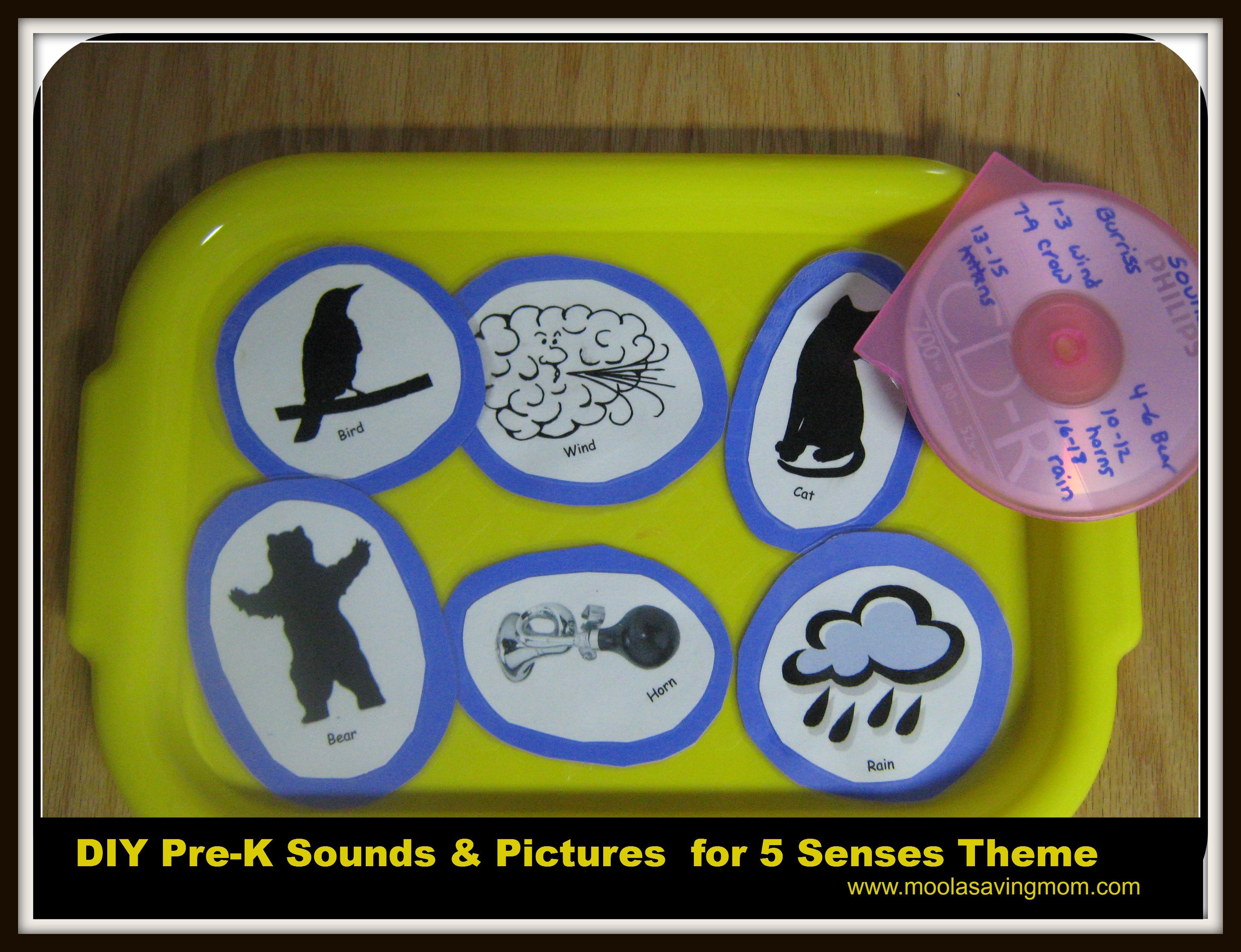 Make It Mondays Pre K Sounds Amp Pictures For 5 Senses Theme