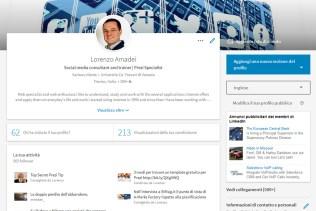 Il profilo personale su LinkedIn, nuovo layout 2017