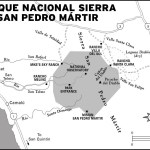 Map of the Sierra San Pedro Martir National Park in Mexico