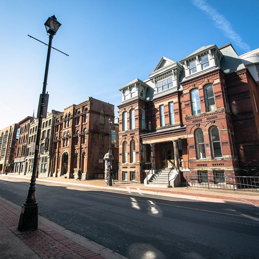 Architecture in downtown Halifax, Nova Scotia.