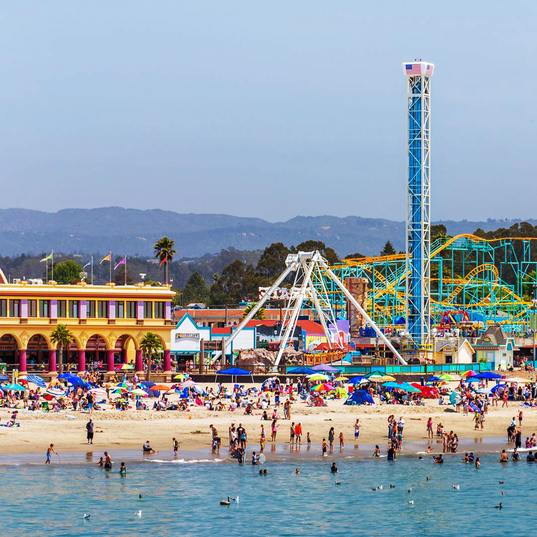 The Santa Cruz Beach Boardwalk.