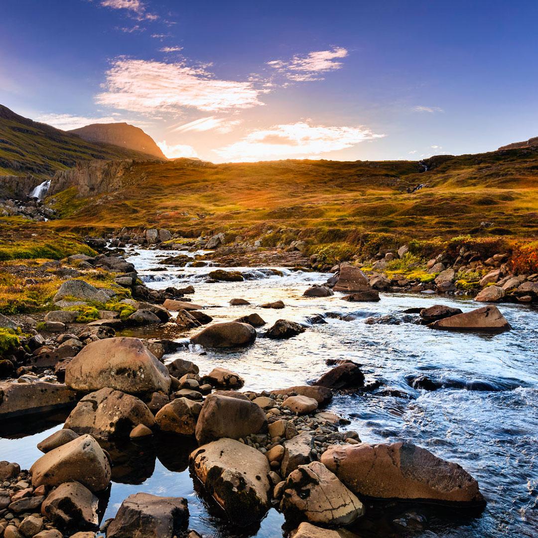 The area around Seyðisfjörður has amazing natural sights.