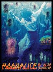 8/19/09 Moonalice poster by Alexandra Fischer
