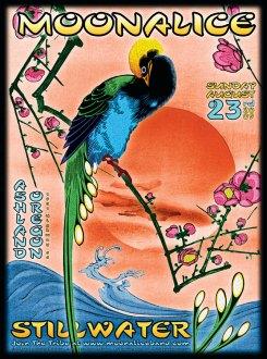 8/23/09 Moonalice poster by Alexandra Fischer