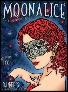2/18/10 Moonalice poster by Alexandra Fischer