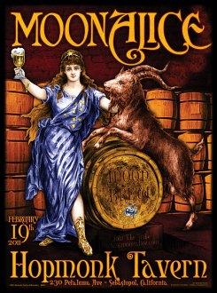 M337 › 2/19/11 Hop Monk Tavern, Sebastopol, CA poster by Alexandra Fischer
