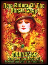 M430 › 11/25/11 Great American Music Hall, San Francisco CA poster by Alexandra Fischer with New Riders of the Purple Sage