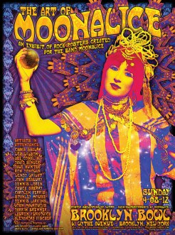 M453 › 4/8/12 The 2nd Art of Moonalice at Brooklyn Bowl, Brooklyn, NY poster by Alexandra Fischer