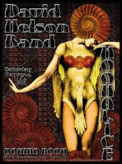 M473 › 5/12/12 Player's Bar & Grill, Bend, OR poster by Alexandra Fischer with David Nelson Band