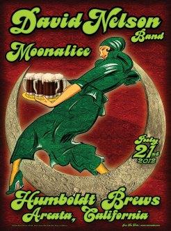M498 › 7/21/12 Humboldt Brews, Arcata, CA poster by Chris Shaw & Alexandra Fischer