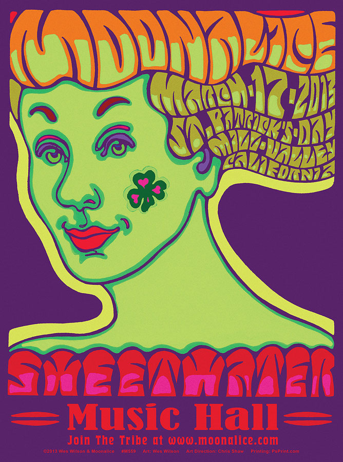 M559 › 3/17/13 Sweetwater Music Hall, Mill Valley, CA poster by Wes Wilson