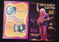 Two Jerry Garcia posters from the same weekend in July 1988 – Greek Theater and Frost Amphitheater.